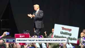 President Trump holding a rally in Grand Rapids this month [Video]