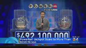 Powerball Jackpot Rises To $550 Million [Video]