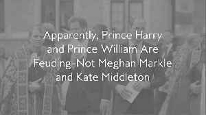 Apparently, Prince Harry and Prince William Are Feuding — Not Meghan Markle and Kate Middleton [Video]
