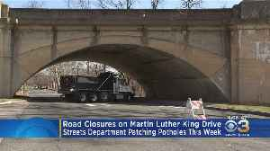 Road Closures On Martin Luther King Drive This Week While Streets Departments Patches Potholes [Video]