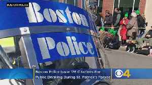 Boston Police Issue 128 Citations For Public Drinking During St. Patrick's Day Parade [Video]