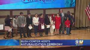 Bush Center Hosts Naturalization Ceremony [Video]