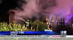 Home catches fire overnight , home is a total loss [Video]