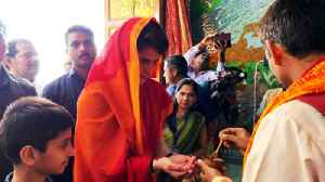 News video: Priyanka Gandhi prayers at Sita Samahit Temple on 2nd day of 'Ganga-Yatra' | Oneindia News