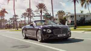 Bentley Continental GT V8 Convertible Preview in Dark Sapphire [Video]