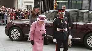 Queen and Duchess of Cambridge visit King's College [Video]