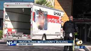 Truck plows into San Diego County building [Video]