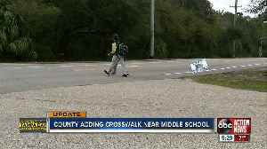 County making major safety updates near Riverview middle school, includes adding crosswalks [Video]