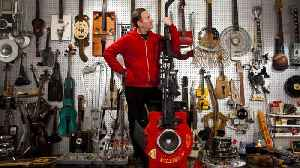 Guns And Hoses! Performer Transforms Guns, Boots, Hockey Sticks, Suitcases And More Into Incredible Musical Instruments [Video]