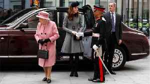 Kate Middleton Wore A Grey Coatdress And Black Fascinator For Her First Ever Solo Outing With The Queen [Video]