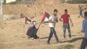 At least 16 injured in Gaza clashes with Israeli military [Video]