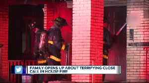 'If it wasn't for them, I know I'd be dead,' says father saved from burning home with 3-yr-old son [Video]