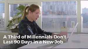 News video: Millennials Are Having A Hard Time With Job Retention