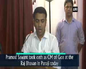 Pramod Sawant sworn in as new Goa CM [Video]