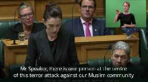 News video: New Zealand PM vows never to say gunman's name