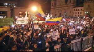 Colombia war crimes: Mass protests in support of special tribunal [Video]