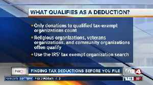 Finding deductions for tax season [Video]