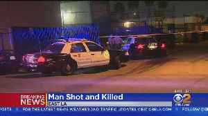Man Found Fatally Shot In East LA [Video]