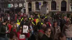 French unions stage day of strikes at Macron policies [Video]
