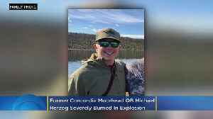Michael Herzog Severely Burned In Ice House Explosion [Video]