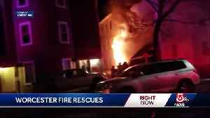 Residents rescued from burning Worcester building [Video]