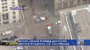 Large Police Presence Surrounds Courthouse For Rosfeld Trial [Video]