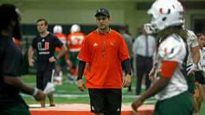 Miami head coach Manny Diaz speaks after first day of Spring practice [Video]