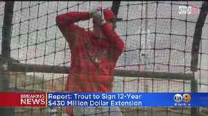 Report: Angels, Mike Trout Finalizing 12-Year, $430M Extension [Video]