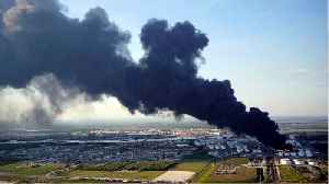 News video: Houston Petrochemical Fire Rages On Spewing Acrid Smoke That Can Be Seen For Miles