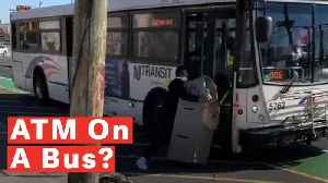 Watch: Comedian Tries To Lug A Whole ATM Machine Onto NJ Transit Bus And Goes Viral [Video]