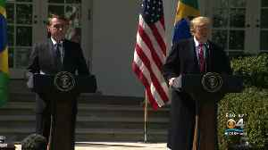Trump Welcomes Brazilian President To White House [Video]