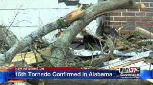 16th Tornado Confirmed in Alabama [Video]