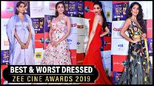 Deepika, Alia Bhatt, Katrina, Sonam Kapoor | Best And Worst Dressed Actress | Zee Cine Awards 2019 [Video]