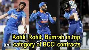 News video: Kohli, Rohit, Bumrah in top category of BCCI contracts