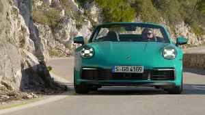 Porsche 911 Carrera S Cabriolet in Miami Blue Driving Video [Video]