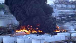 Texas Fire Destroyed 11 Petrochemical Storage Tanks Before Extinguished [Video]