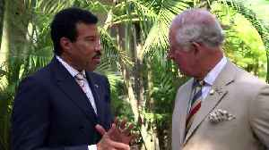 Prince Charles meets Lionel Richie and Tom Jones in Barbados [Video]