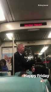 Man plays bagpipes on st. patrick's day on subway train [Video]