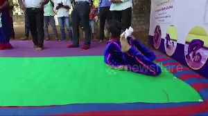 Indian girl sets world record for most forward rolls in contorted yoga pose [Video]
