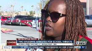 Two students arrested for School Threats [Video]