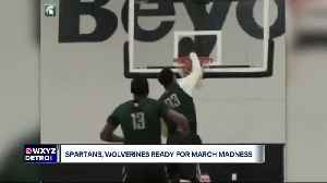 Spartans and Wolverines ready for March Madness [Video]