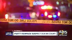 Party rampage suspect due in court [Video]