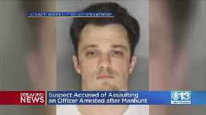 Suspect Accused Of Assaulting An Officer Arrested After Manhunt [Video]