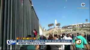 Migrants climb over border fence at Border Field State Park [Video]