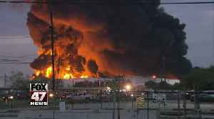 Day Four: Texas petrochemical facility continues to blanket the sky in dark smoke [Video]