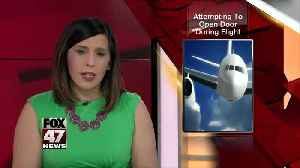 Woman attempts to open boarding door on Delta flight shortly after takeoff [Video]