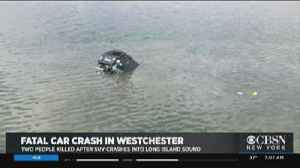 Two Killed After Car Plunges Into L.I. Sound [Video]