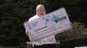 Factory worker celebrates £71million lottery win [Video]