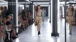 Right Now: Model Nathan Westling Walks Louis Vuitton Runway [Video]