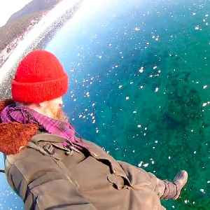 Take a walk across this crystal-clear frozen lake [Video]